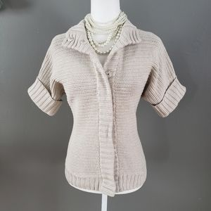 Banana Republic Knit Snap Short Sleeve Sweater